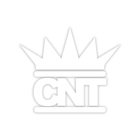 CNT Logo White Vinyl Sticker