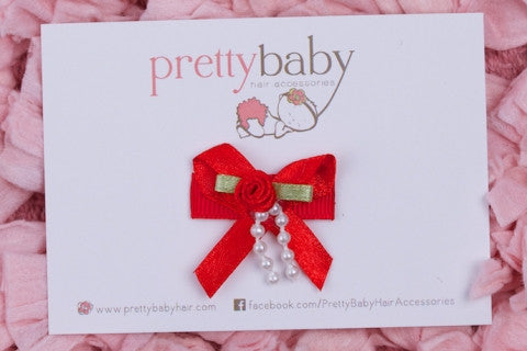Christmas Bow Baby Hair Clip