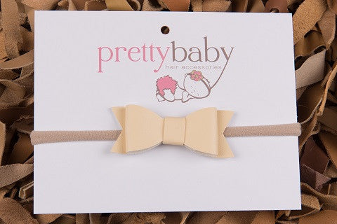 Cream Bow Headband