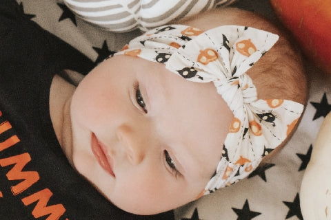 Halloween Bow Baby Headband