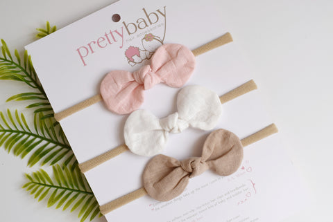 Essential Baby Bow Headband Set