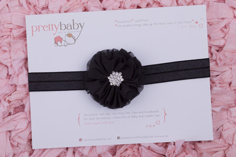 Nikki Black Baby Headband