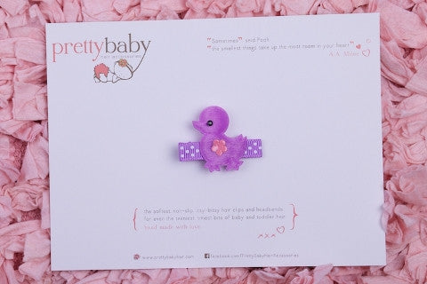 Lavender Chick Toddler Hair Clip
