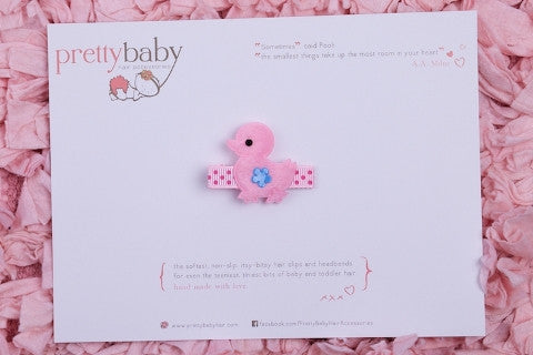 Pink Chick Toddler Hair Clip