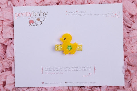 Yellow Chick Toddler Hair Clip
