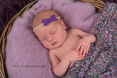 Purple Bow Headband