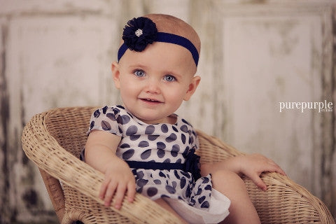 Miley Navy Baby Headband