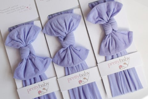 Lavender Top Knot Baby Headband