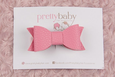 Bubblegum Pink Bow Toddler Hair Clip