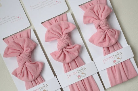 Blush Pink Top Knot Baby Headband – Pretty Baby Hair Accessories f641c17e1a4