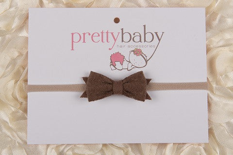 Chocolate Brown Felt Bow Headband