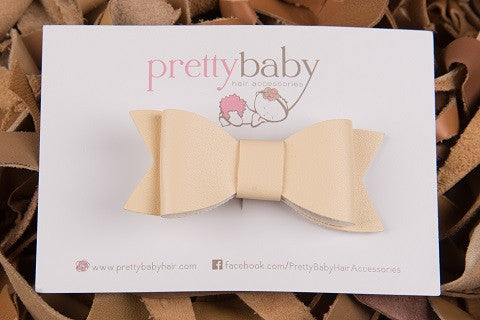 Cream Bow Toddler Hair Clip