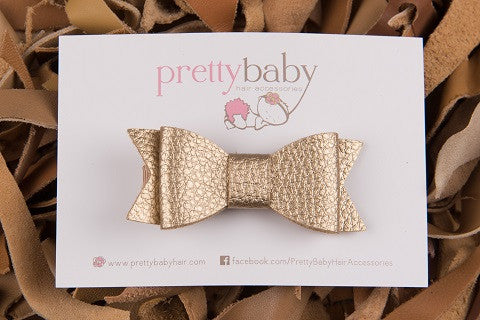 Gold Bow Toddler Hair Clip