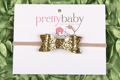 gold bow baby headband hair band