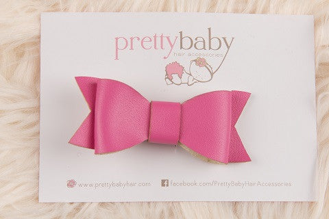 Hot Pink Bow Toddler Hair Clip