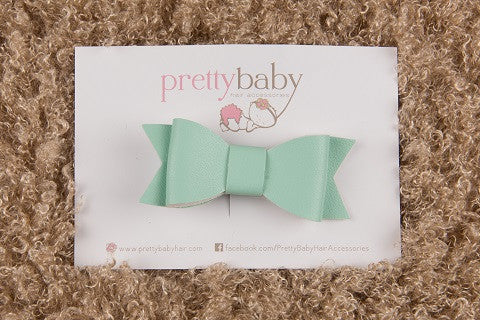 Mint Green Bow Toddler Hair Clip