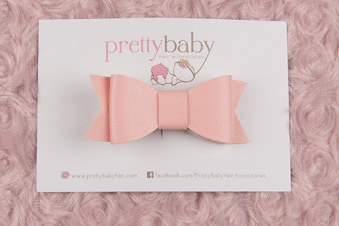 Pink Bow Toddler Hair Clip
