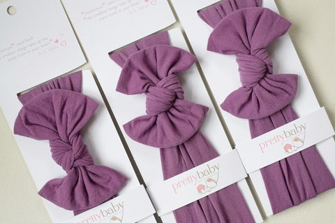Plum Top Knot Baby Headband