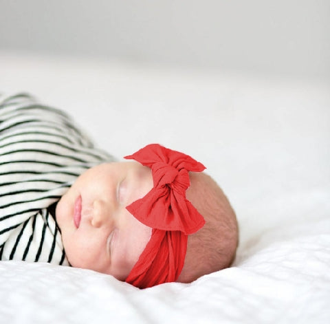 Red bow, red baby bow, red headband, red baby headband, red hairband, Christmas  baby headband