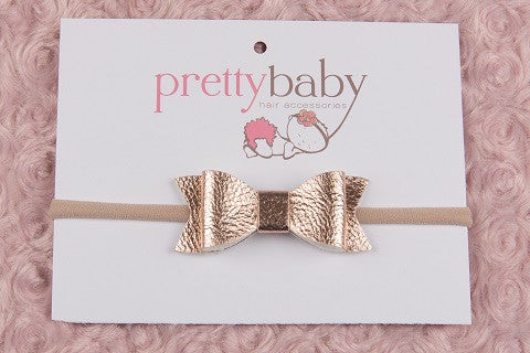 Rose Gold Bow Headband