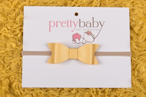 Pastel Yellow Bow Headband