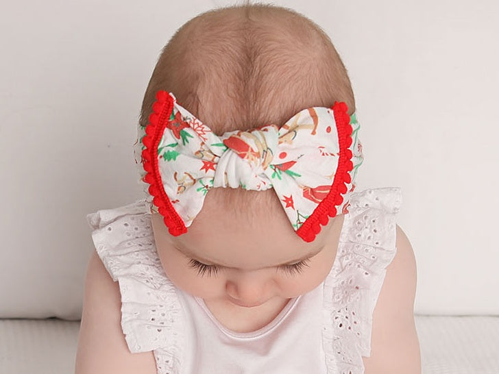 Christmas baby bow headbands