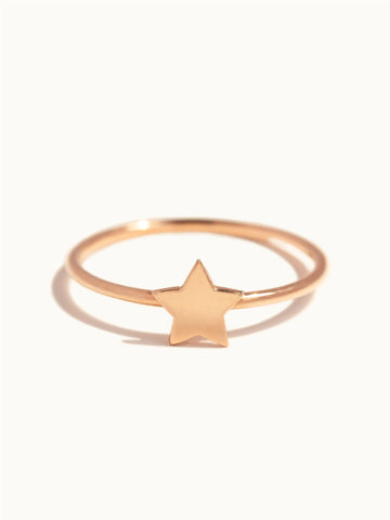 Engravable Star Ring