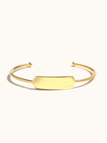 Engravable Capsule Bar Cuff