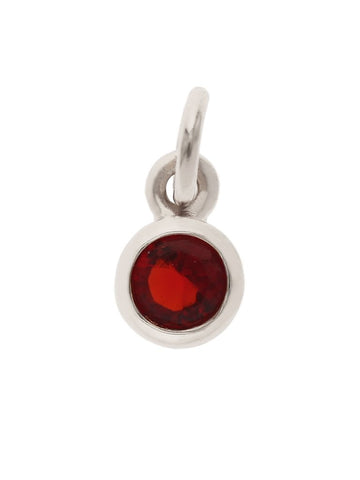January Birthstone Pendant Charm