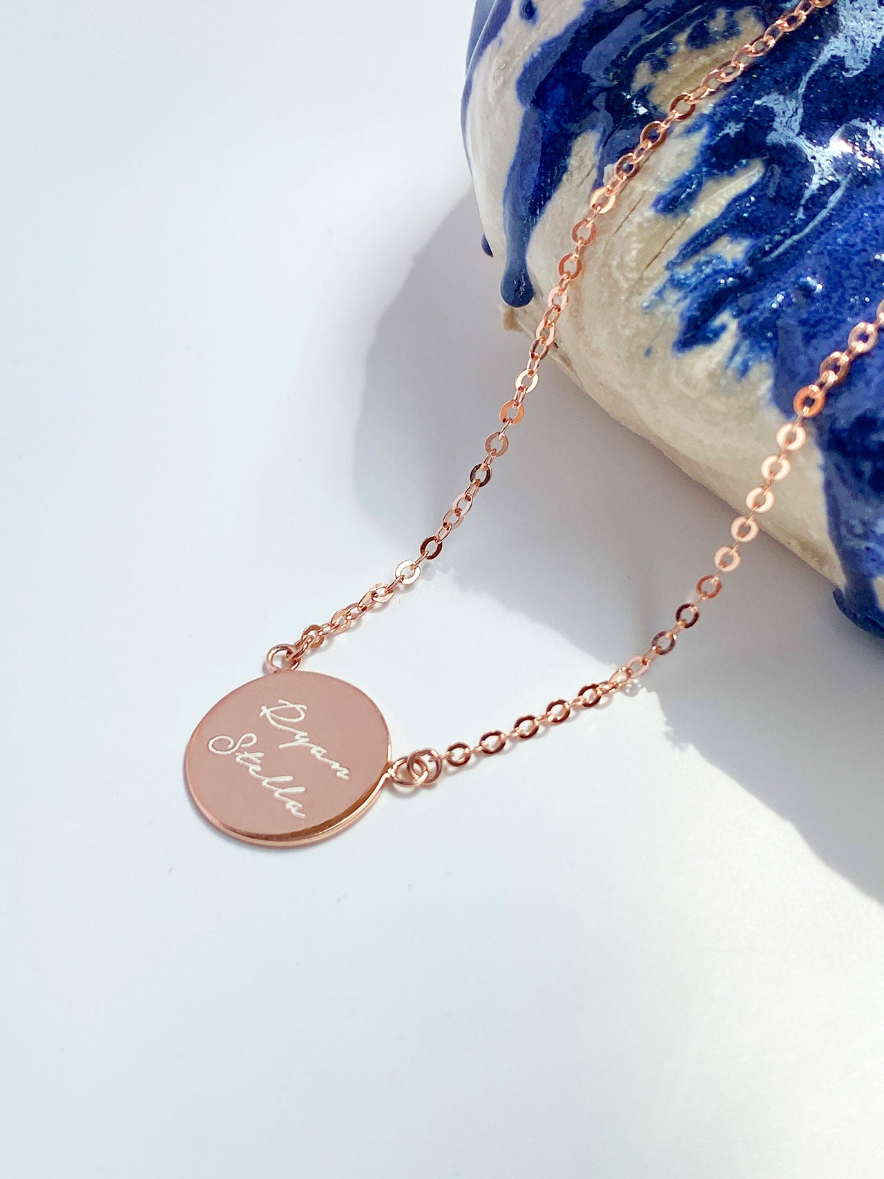 Engravable Medallion Necklace
