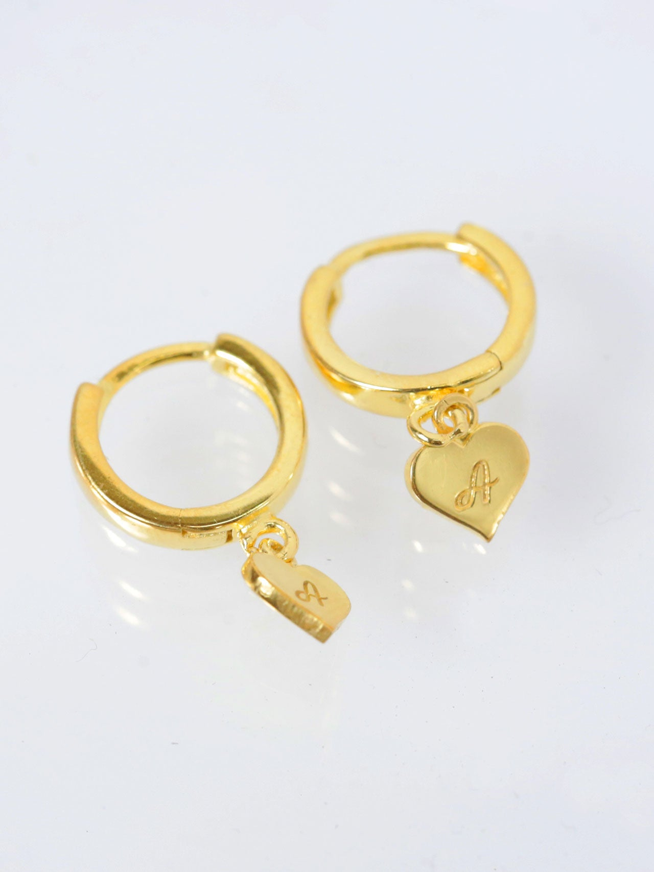 Engravable Heart Hoop Earrings
