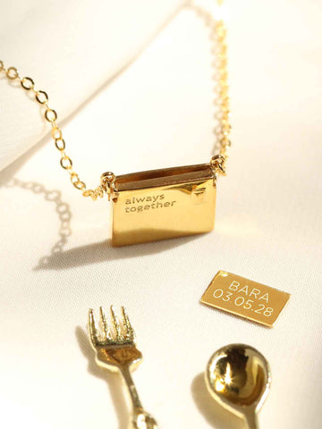 Engravable Petite Love Letter Necklace