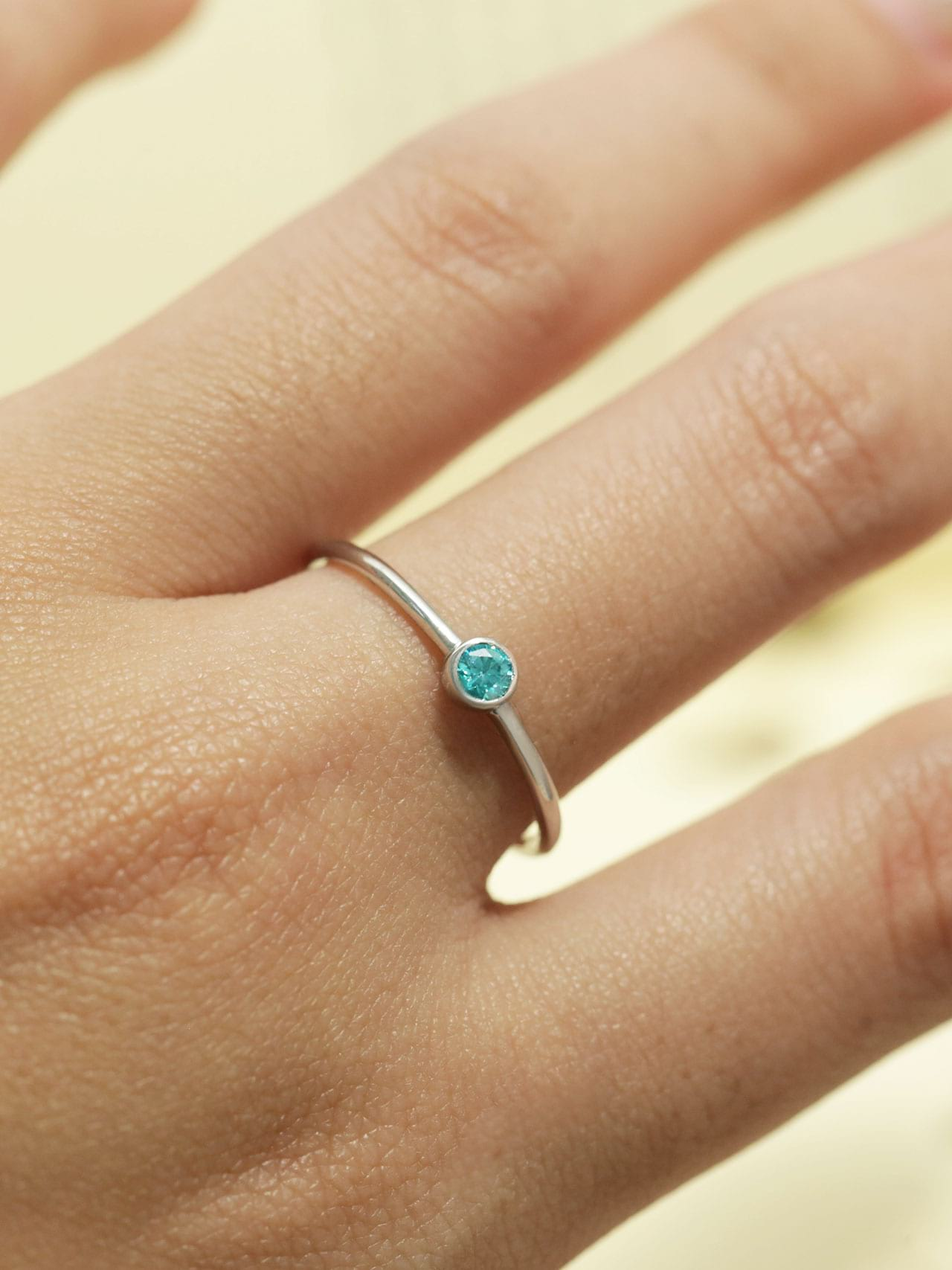Birthstone Bezel Ring