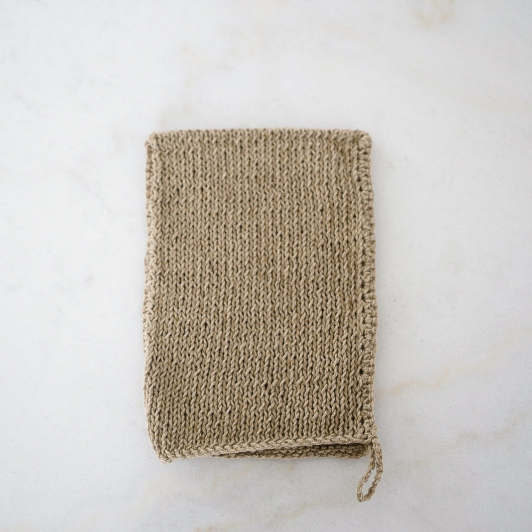 Hand-knit Linen Body Wash Cloth