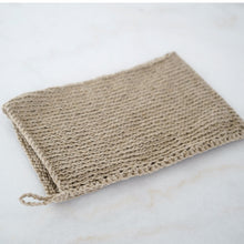 Load image into Gallery viewer, Hand-knit Linen Body Wash Cloth