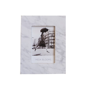 Venata White Marble Photo Frame