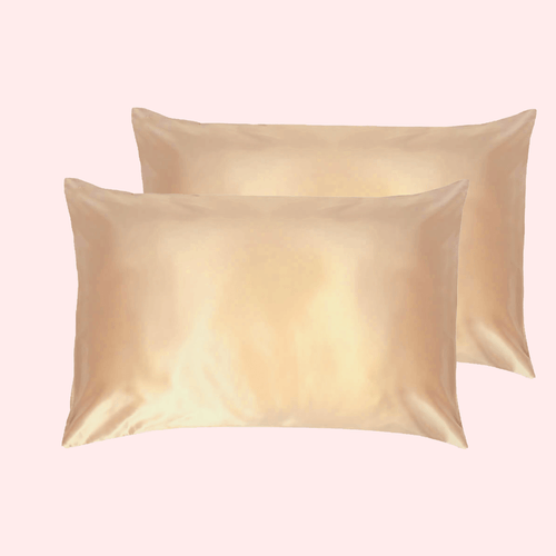 Slinky Silk - Gold-100% Pure Mulberry Quality 6A Grade Silk Pillowcase set. Improve and Revolutionalise your skin, hair, life regime with Slinky Silk Pillowcase.