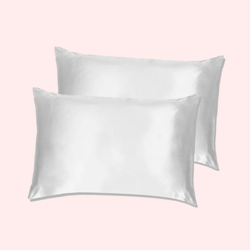 Slinky Silk - White-100% Pure Mulberry Quality 6A Grade Silk Pillowcase set. Improve and Revolutionalise your skin, hair, life regime with Slinky Silk Pillowcase.