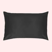 Load image into Gallery viewer, Slinky Silk- Black- 100% Pure Mulberry Quality 6A Grade Silk Pillowcase. Improve and Revolutionalise your skin, hair, life regime with Slinky Silk Pillowcase.