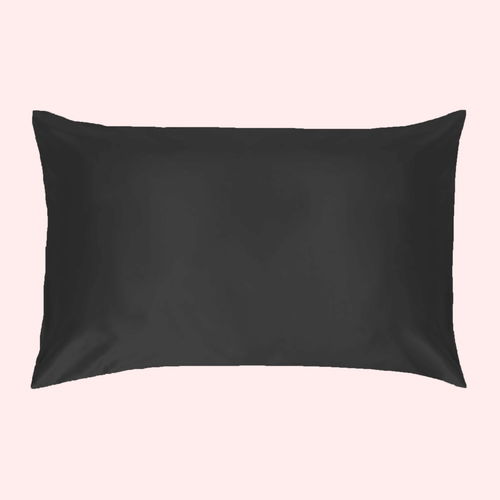 Slinky Silk- Black- 100% Pure Mulberry Quality 6A Grade Silk Pillowcase. Improve and Revolutionalise your skin, hair, life regime with Slinky Silk Pillowcase.