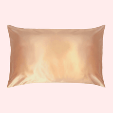 Load image into Gallery viewer, Slinky Silk - Gold 100% Pure Mulberry Quality 6A Grade Silk Pillowcase. Improve and Revolutionalise your skin, hair, life regime with Slinky Silk Pillowcase.