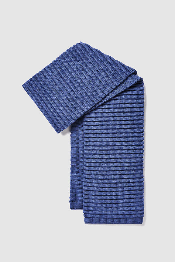 Adult Ribbed Scarf Periwinkle