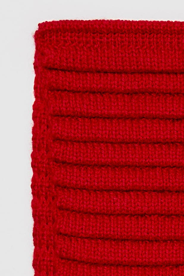 Kids Ribbed Scarf, Red
