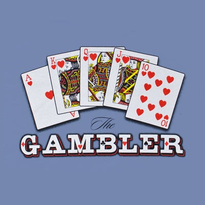 Kenny Rogers Portrait Gambler Blue T-Shirt