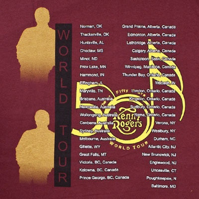 """Kenny 50 Years World Tour"" Maroon T-Shirt"