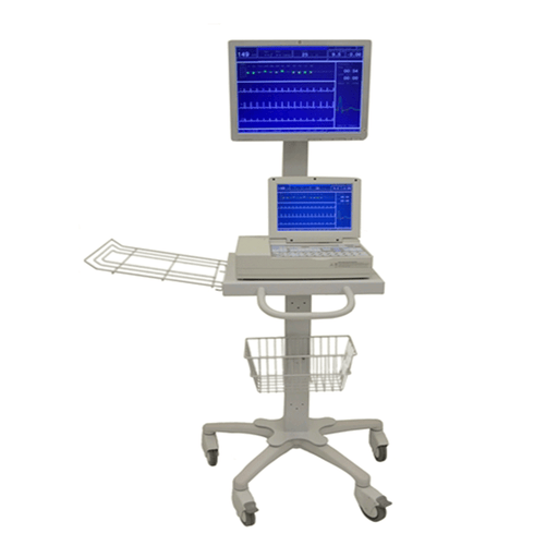 Schiller Cardiovit AT-10 Plus Stress System with cart and display