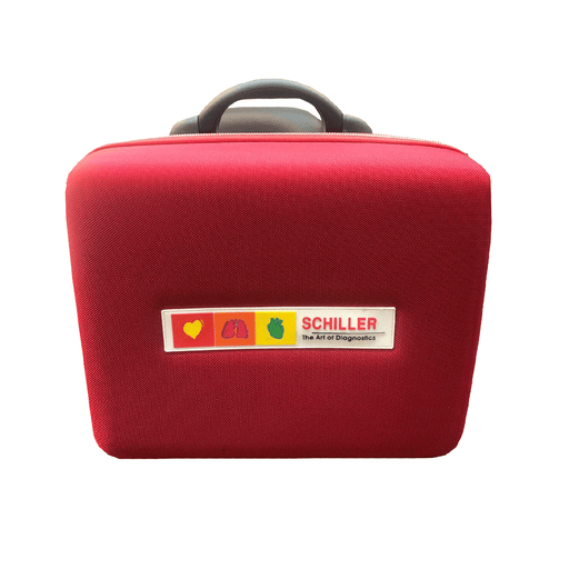 Schiller Carrying Case for FT-1 EKG Red