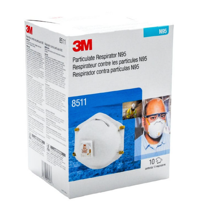 3M Particulate Respirator N95 8511 NIOSH w/ Exhalation Valve