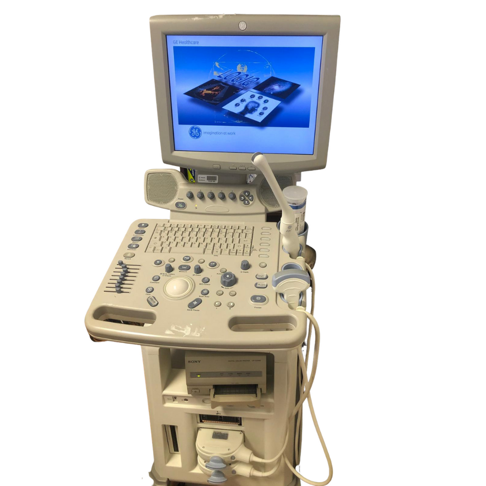 GE Logic P5 Ultrasound System w/ Printer & 2 Probes - Excellent Conditions - Refurbished