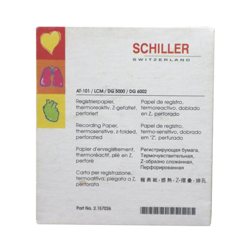 Schiller EKG Recording Paper for AT-101, LCM, DG 5000 and DG 6002